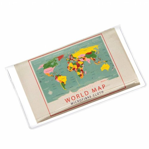 Rex London World Map Glasses cleaning cloth