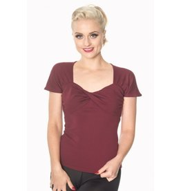 Banned She Who Dares top - Burgundy