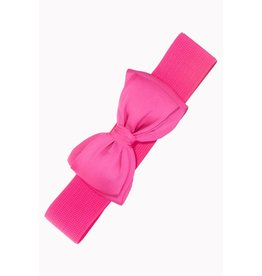 Banned Belt Bow - Hot Pink