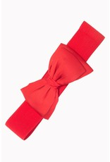Banned Belt Bow - red