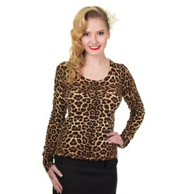 Banned Crazy Love Cardigan - Leopard Print