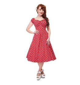 Collectif Red Dolores polka dot dress