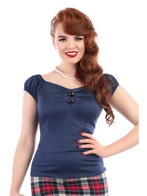 Collectif Dolores Top - Navy