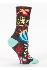 Blue Q I'm Complicated, Thank You Socks