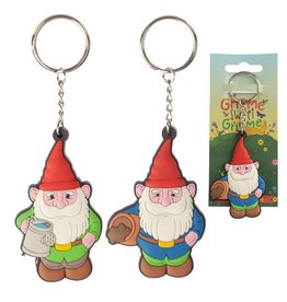 gnome sweet Gnome pvc keychain