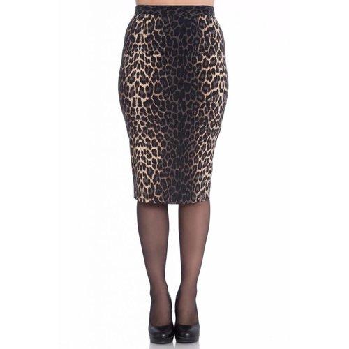 Hell Bunny Panthera Pencil Skirt