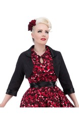 Hearts & Roses Black Brocade Bolero