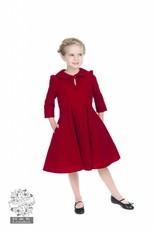 Hearts & Roses Velvet Tea Dress - Red for kids