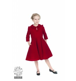 Hearts & Roses Velvet Tea Dress - Red for kids
