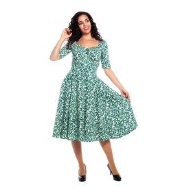 Collectif Dolores Half Sleeve Leafy Doll Dress