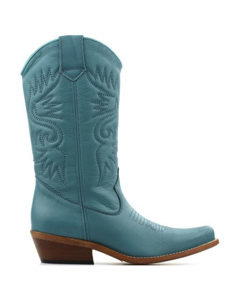 DWRS Cowboy Boots Turquoise