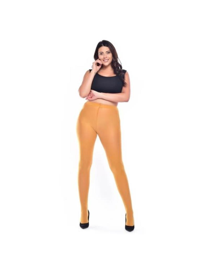 Pamela Mann 90 Denier Curvy Super Stretch Tights Mustard