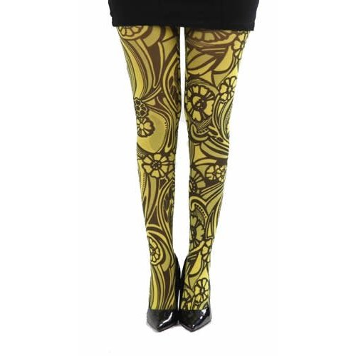 Pamela Mann Varrick Printed Tights - one size
