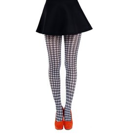 Pamela Mann Dogtooth Small Printed Tights - L-XXL