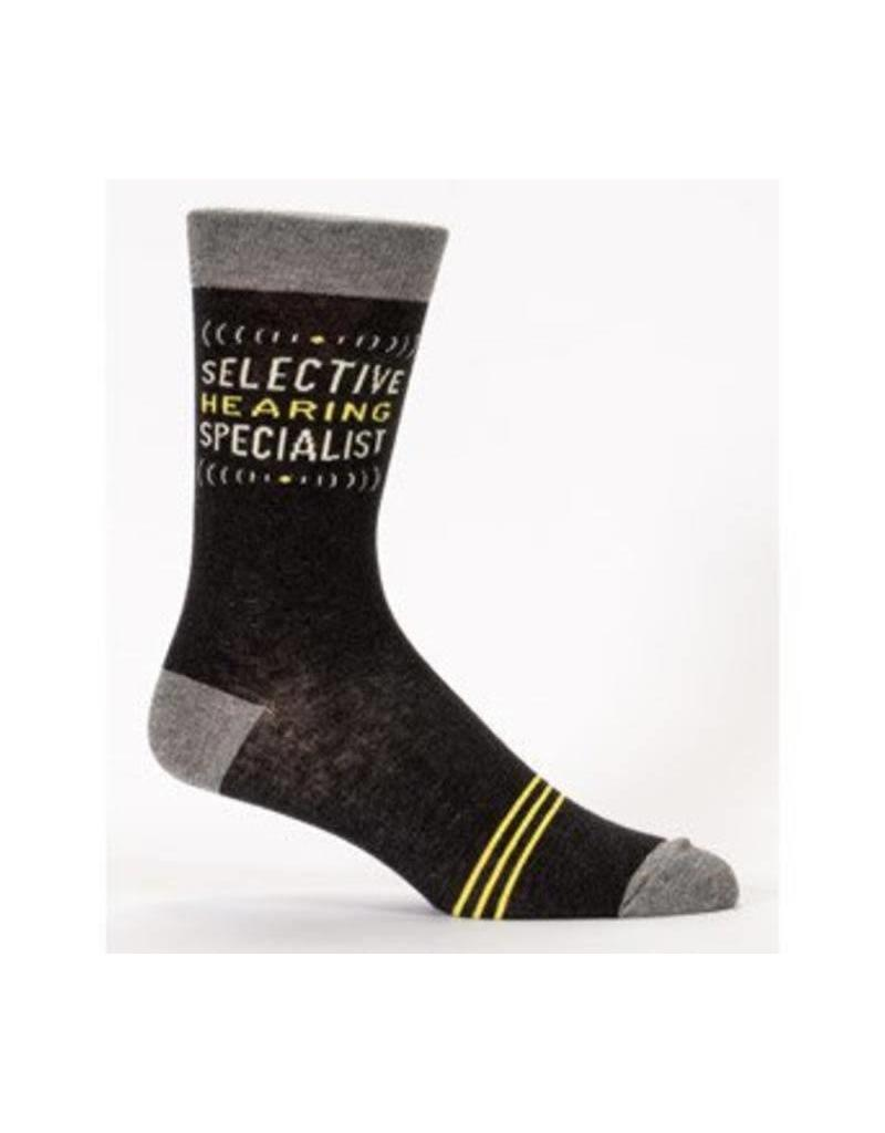 Blue Q Selective Hearing Specialist - mens socks