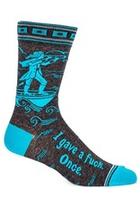 Blue Q I gave a fuck once - mens socks