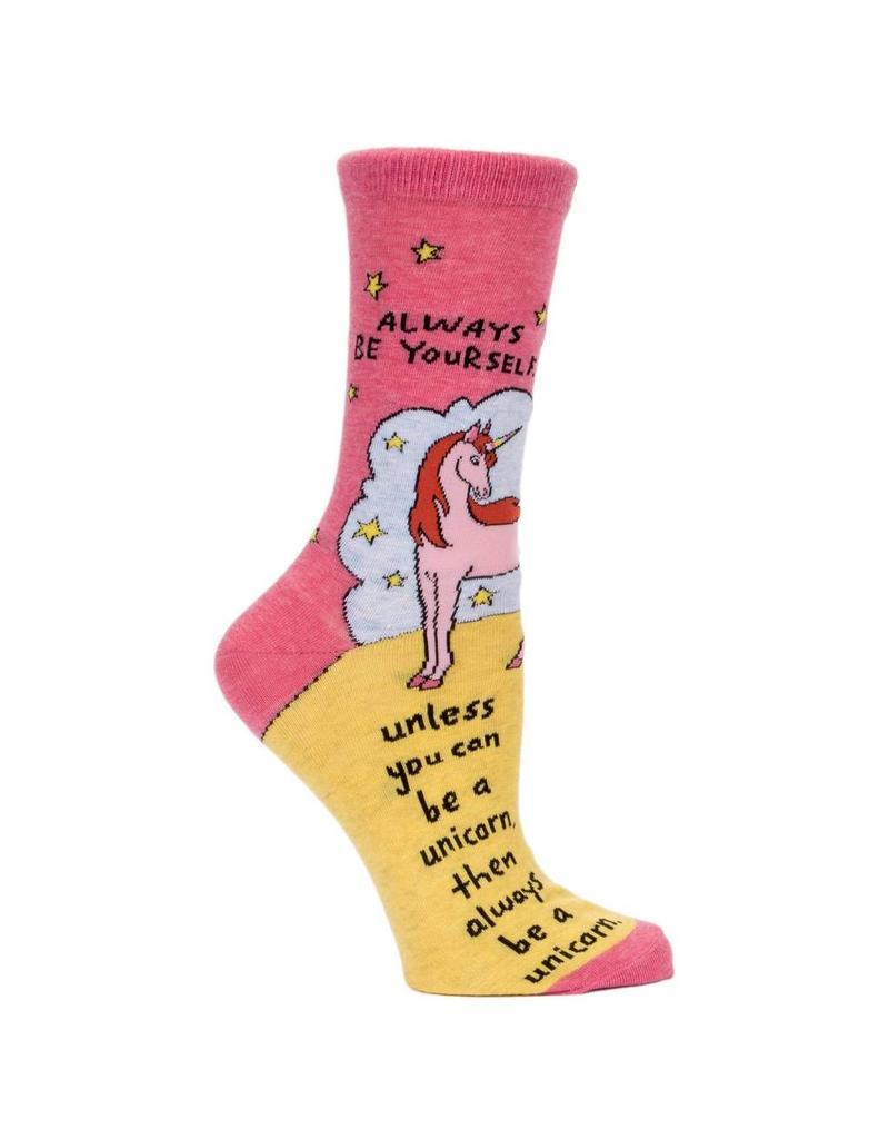 Blue Q Always be a uniconr socks