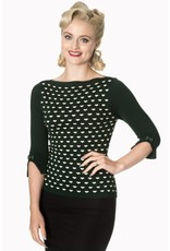 Banned Charming Heart Knit top - groen