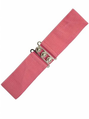 Banned Stretch Belt - pink coral