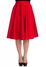 Hell Bunny Paula 50s Skirt - red