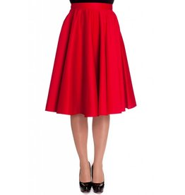 Hell Bunny Paula 50s Skirt - red