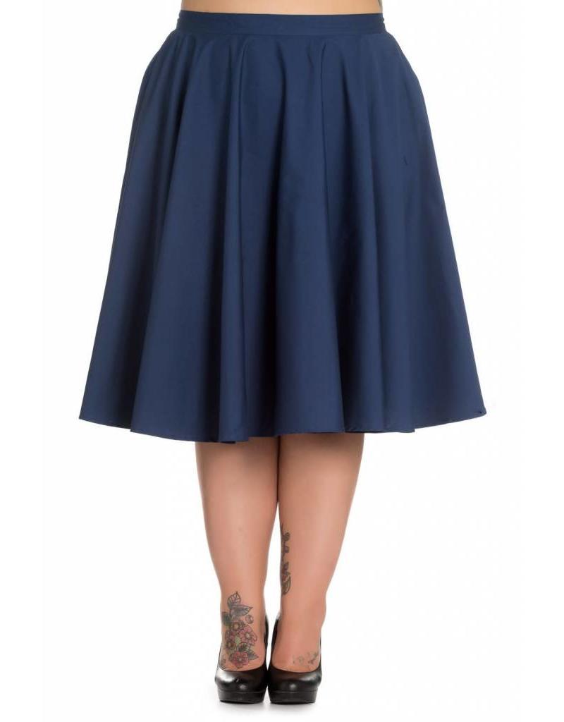 Hell Bunny Paula 50s Skirt - navy
