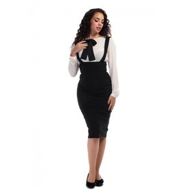 Collectif Karen Suspender Pencil Skirt