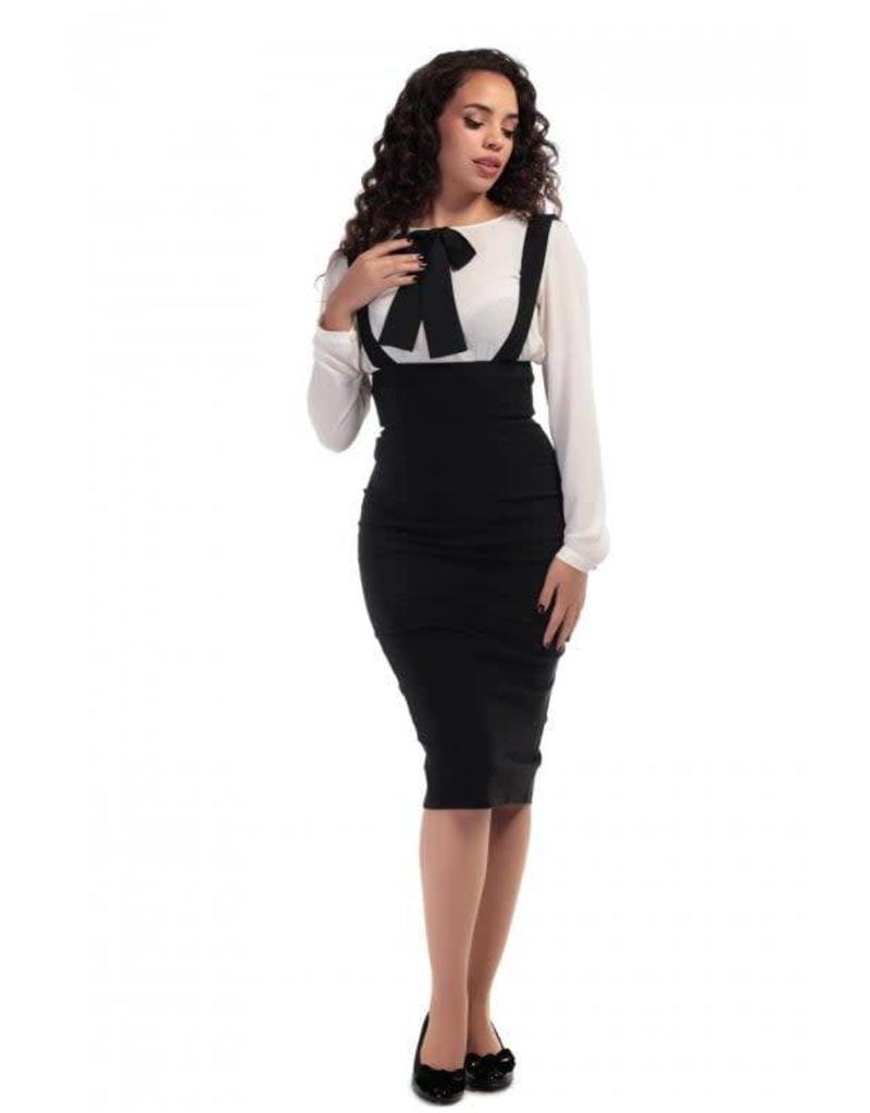 Collectif Karen Suspender Pencil Skirt