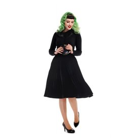 Collectif Jasmine Velvet Swing Rok