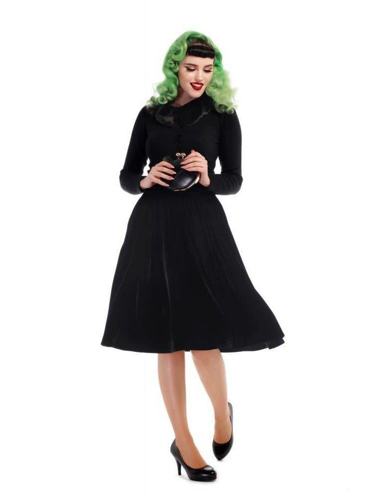 Collectif Jasmine Velvet Swing Skirt