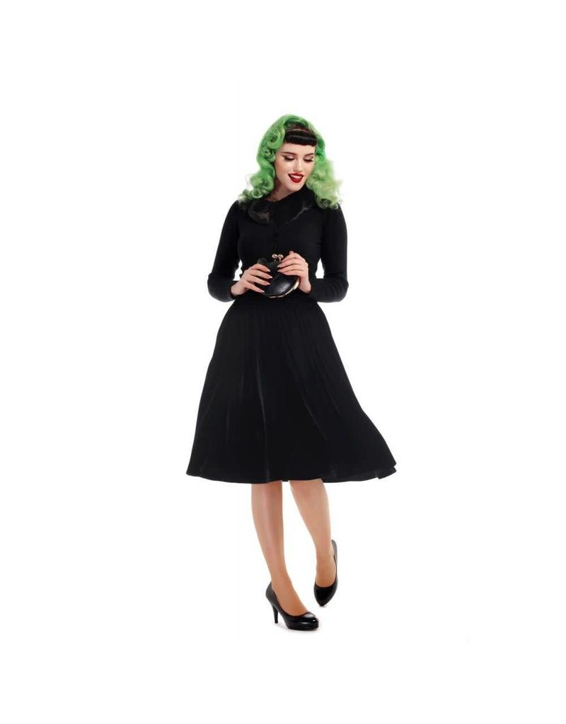 Collectif Jasmine Velvet Swing Skirt