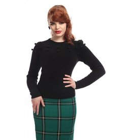 Collectif Barbara Pom Pom Jumper - black