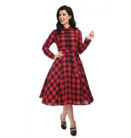Mara Checked Shirt Dress