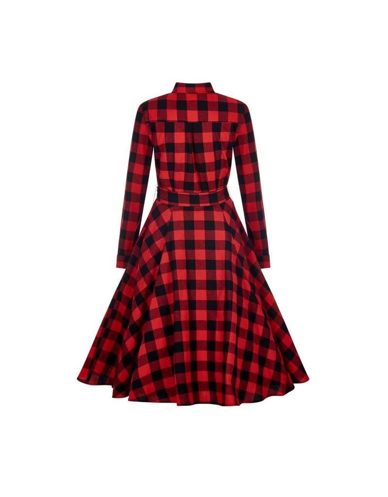 Mara Checked Shirt Dress