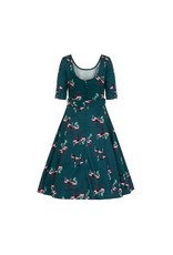 Collectif June Flamingo Swing Dress