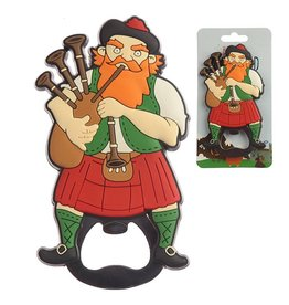 Bagpipe Player PVC Bottle opener