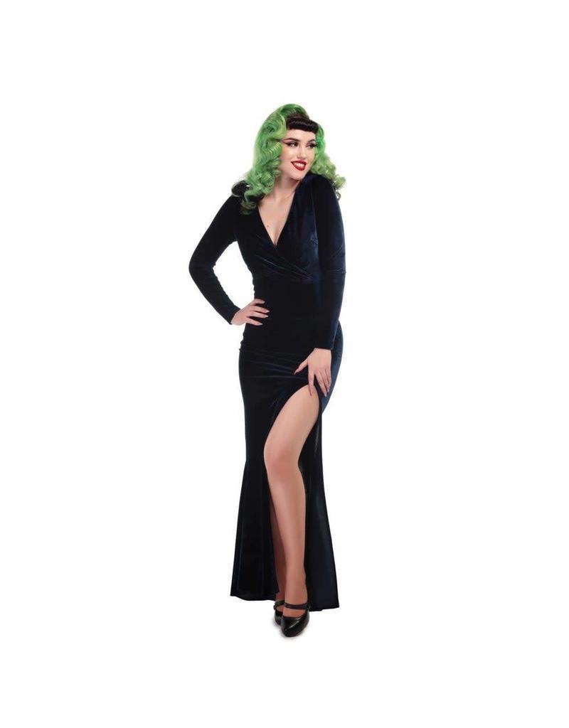 Collectif Lexie Velvet Maxi-jurk
