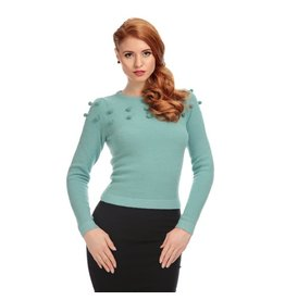 Collectif Barbara Pom Pom Jumper mint