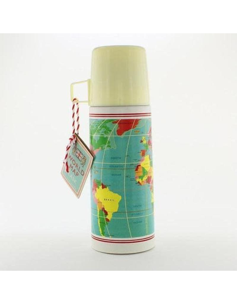 Rex London World Map flask