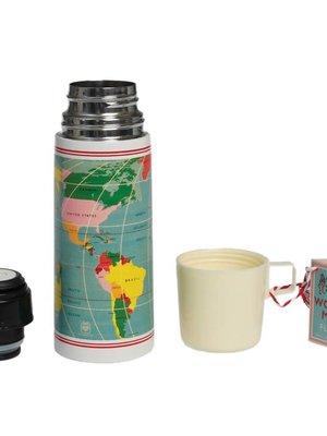 Rex London World Map flask