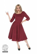 Hearts & Roses Wendy Dress in Red