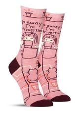 Blue Q Go away I'm introverting socks