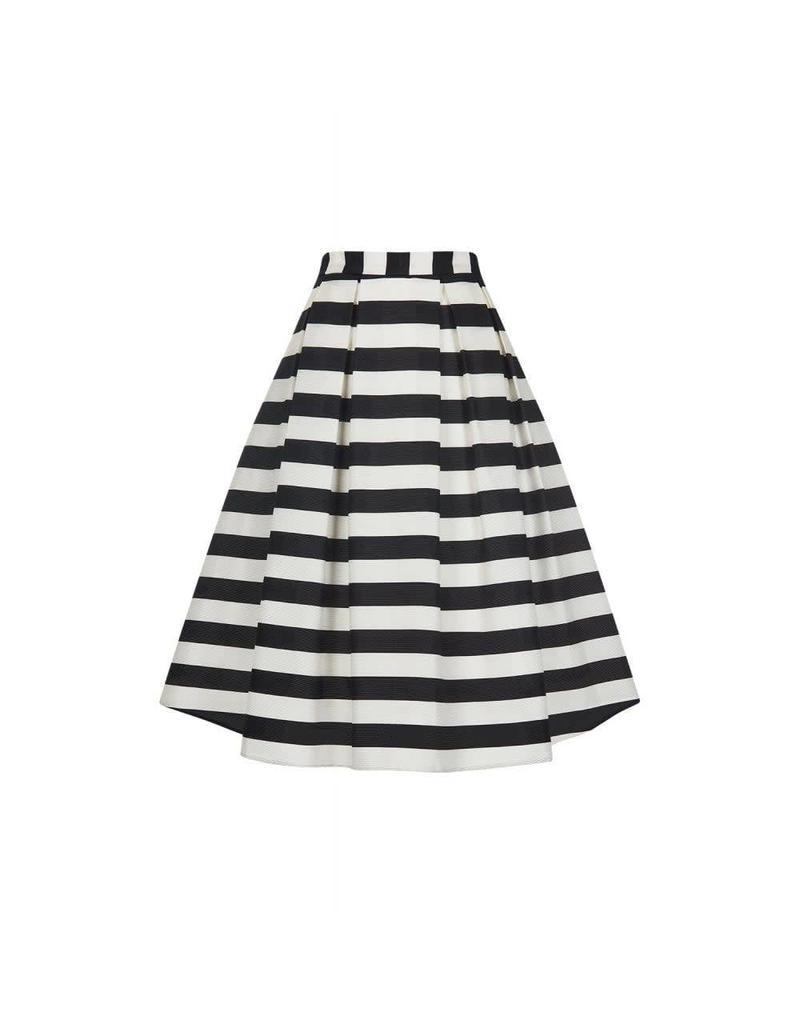 Collectif Marilu Striped Swing Skirt