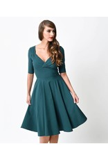 Collectif Trixie Doll Dress - Teal