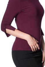 Banned Oonagh top - Burgundy