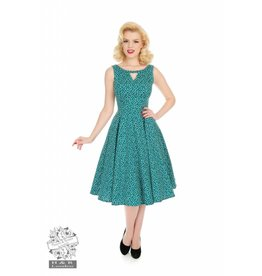 Hearts & Roses La Rosa Dotty Swing Jurk