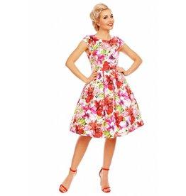 Dolly & Dotty Vanessa Floral Cap mouw jurk