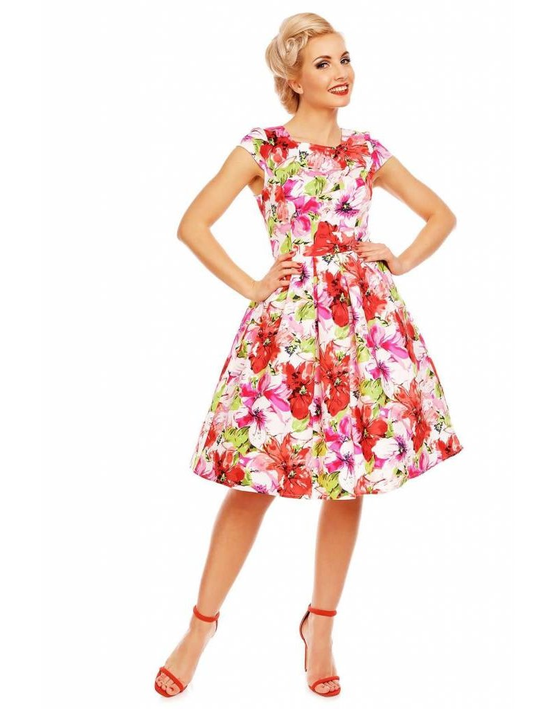 Dolly & Dotty Vanessa Floral Cap Sleeve Dress