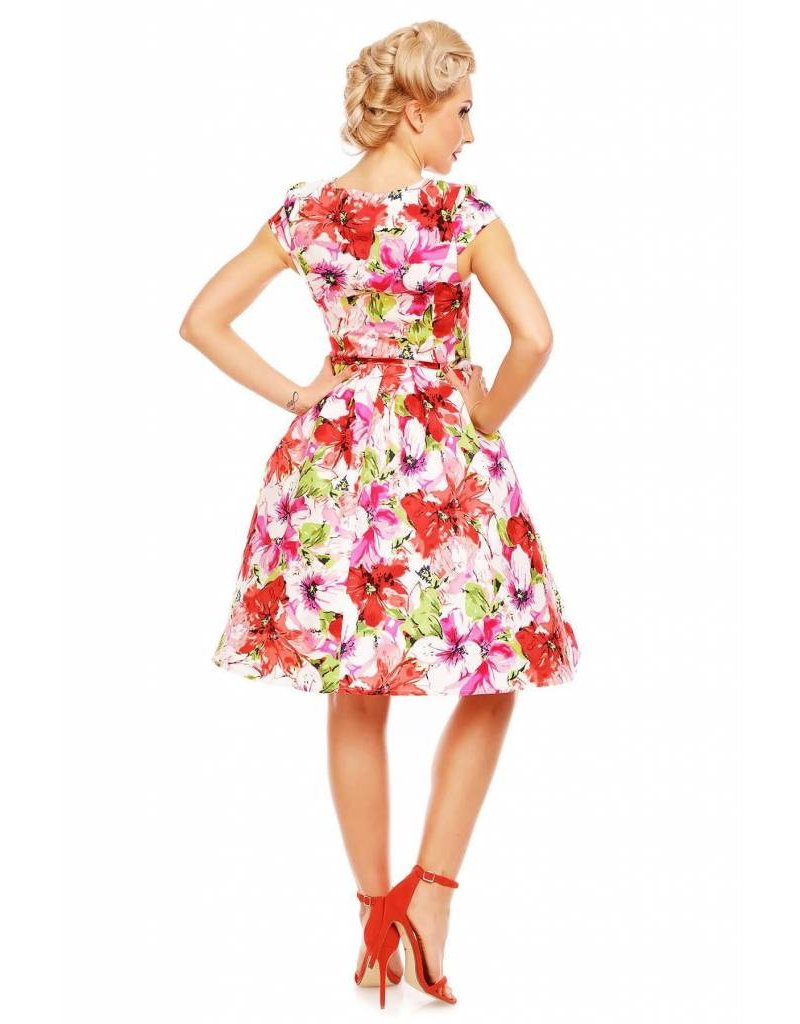 Dolly & Dotty Vanessa Floral Cap mouw jurk