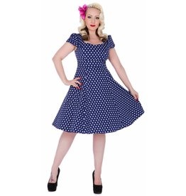 Dolly & Dotty Claudia Flirty Fifties Style Dress in Blue